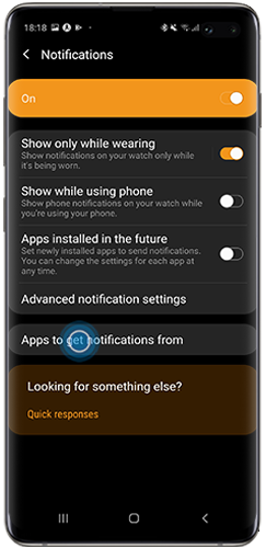 view all apps in the Galaxy Wearable app