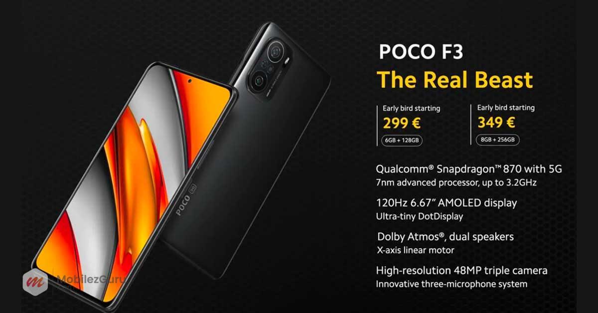 Best phone 2021 Poco F3 MobilezGuru
